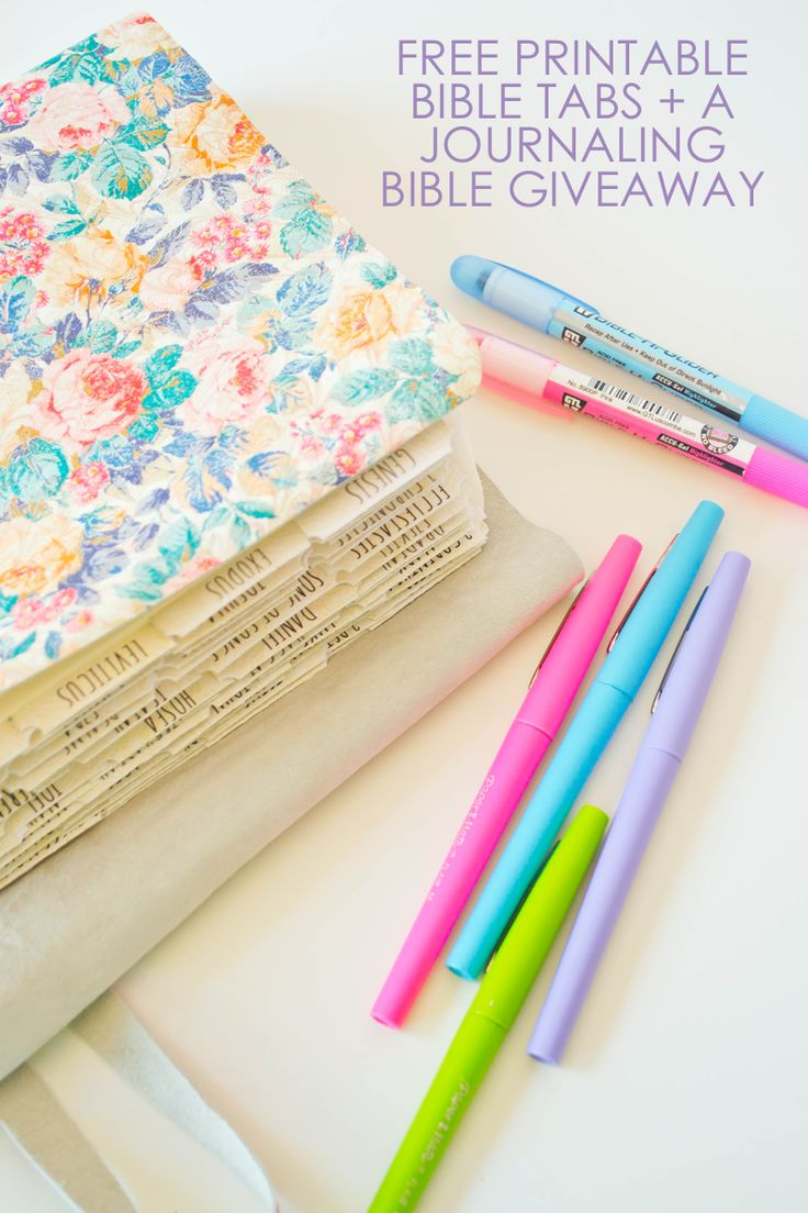 A Journaling Bible Giveaway + FREE Printable Bible Tabs | Our Holly Days