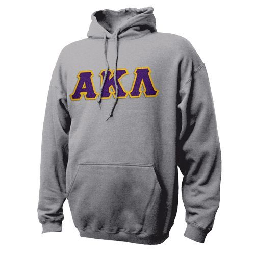 Campus Classics - On Sale! Alpha Kappa Lambda Heather Gray Hoodie with Sewn On Letters: $38.95
