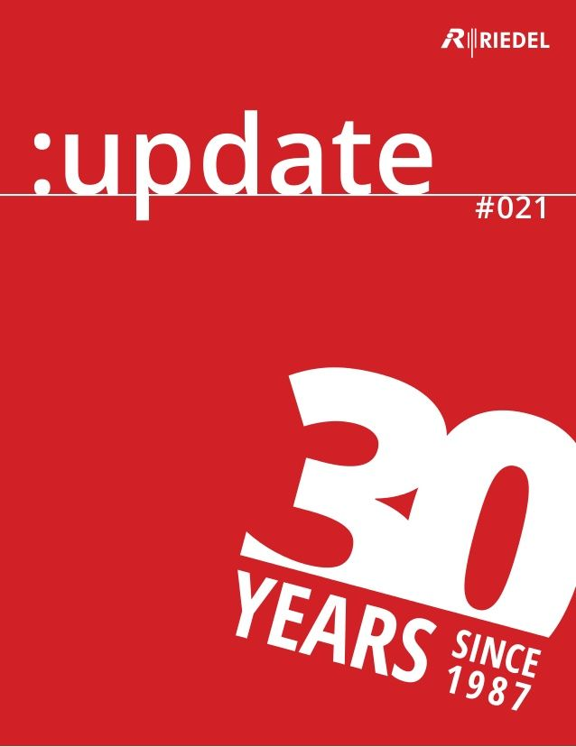 Our new #RIEDEL :update brochure (No. 21) is now available, presenting our latest projects & products in detail.