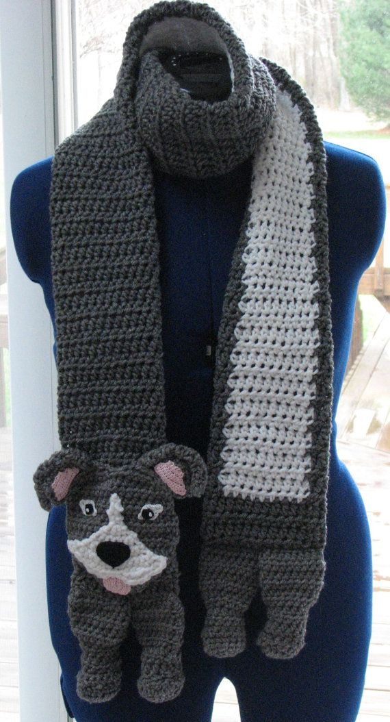 PitBull Scarf Crochet Pattern in by DonnasCrochetDesigns on Etsy, $4.99