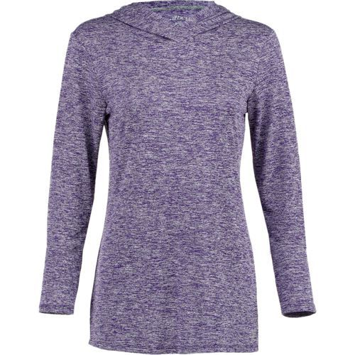 BCG Women's Turbo Melange Hoodie (Purple Dark 02, Size Medium) - Women's Athletic Apparel, Women's Athletic Performance Tops at Academy Sports
