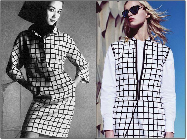Слева: Vogue. Великобритания. Май 1967 г. Модель: Селия Хаммонд (Celia Hammond ). Фотограф: Дэвид Бэйли (David Bailey). Справа: ELLE. Южная Африка. Август 2014 г. Модель: Mari @ Vision. Фотограф: Росс Гарретт (Ross Garrett). #fashion #fashioninspiration #style #60s #1960s #SperanzaFirsace