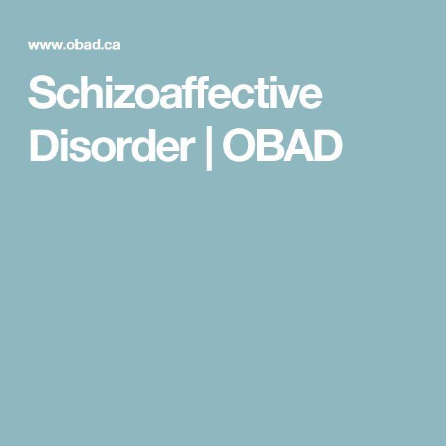 Schizoaffective Disorder | OBAD