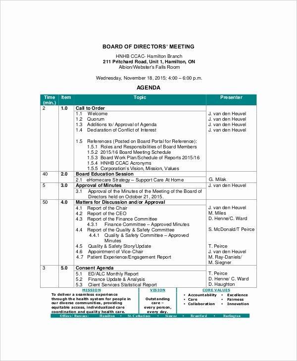 Board Of Directors Report Template Elegant 12 Board Of Directors Meeting Agenda Templates Free Meeting Agenda Template Meeting Agenda Agenda Template