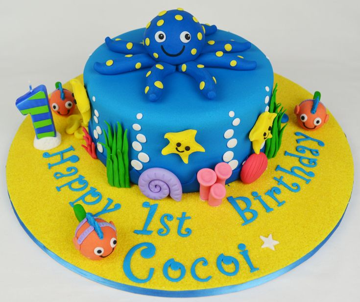Ocean Creatures Birthday Cake Sea
