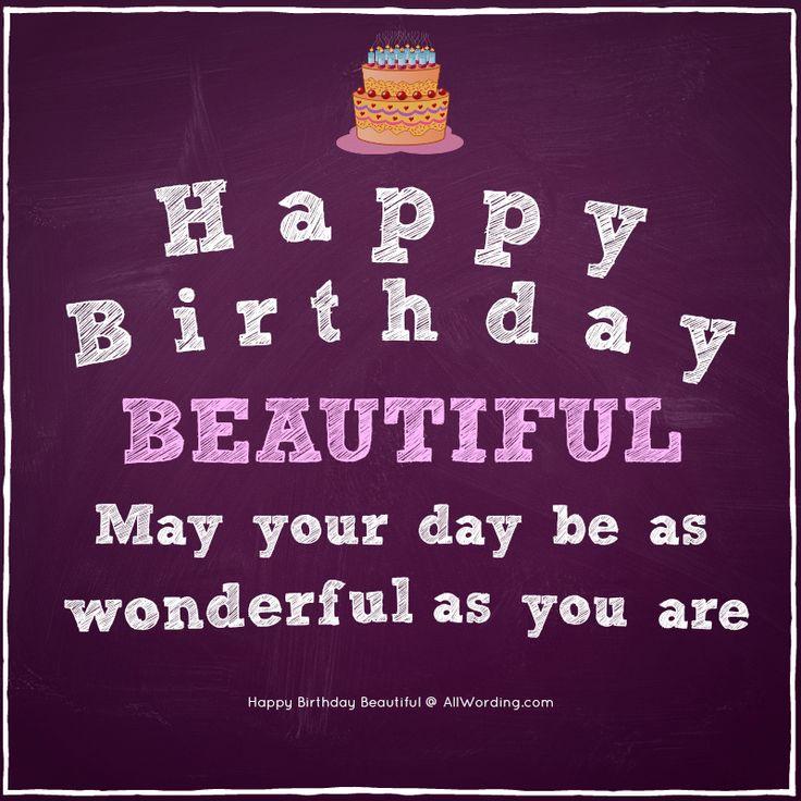 Happy Birthday Beautiful 30 Sweet Birthday Wishes For