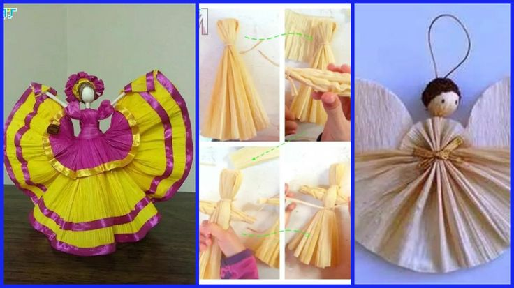 Corn bran is also a good tool to create a doll, good plasticity so that the baby will be able