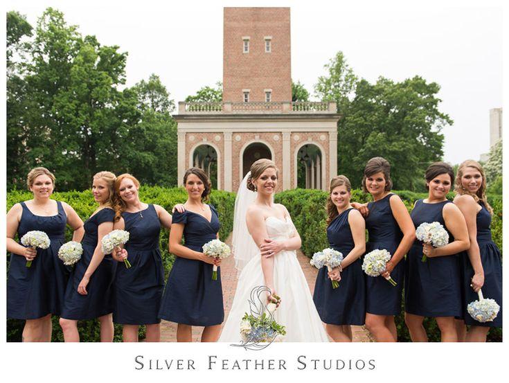 Navy bridesmaid dresses. - Carolina Club Wedding | Kelly + Hugh — Silver Feather Studios - North Carolina Wedding Photography and Videography