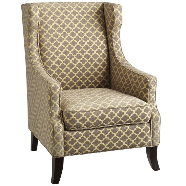 Alec Gray Trellis Wing Chair Living Room