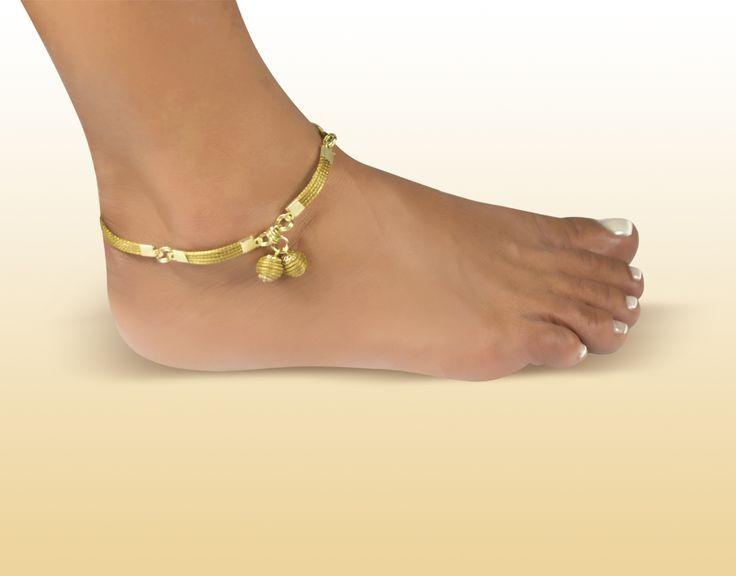 Tornozeleira Pingente Colméias - Brasil Capim Dourado. Confira na loja virtual! http://www.brasilcapimdourado.com/eco-joias/tornozeleiras/tornozeleira-pingente-colmeias/