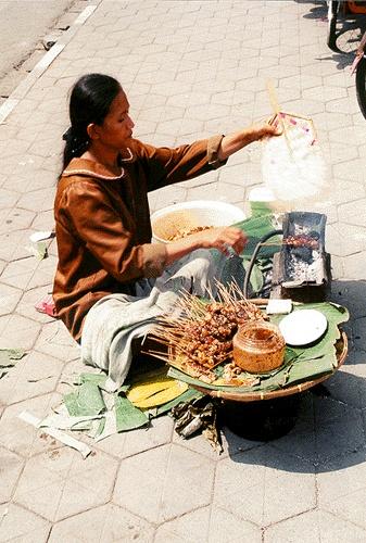Street vendor, Jakarta, Indonesia