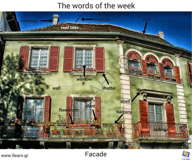 The facade. #Αγγλικά #αγγλικές #λέξεις #αγγλική #γλώσσα #λεξιλόγιο #English…