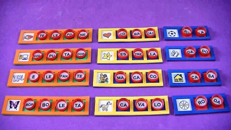 Jogos de alfabetização para praticar a leitura e a escrita - Atividades Pedagógicas  | Jogo-de-Alfabetizacao-Com-Material-Reciclado