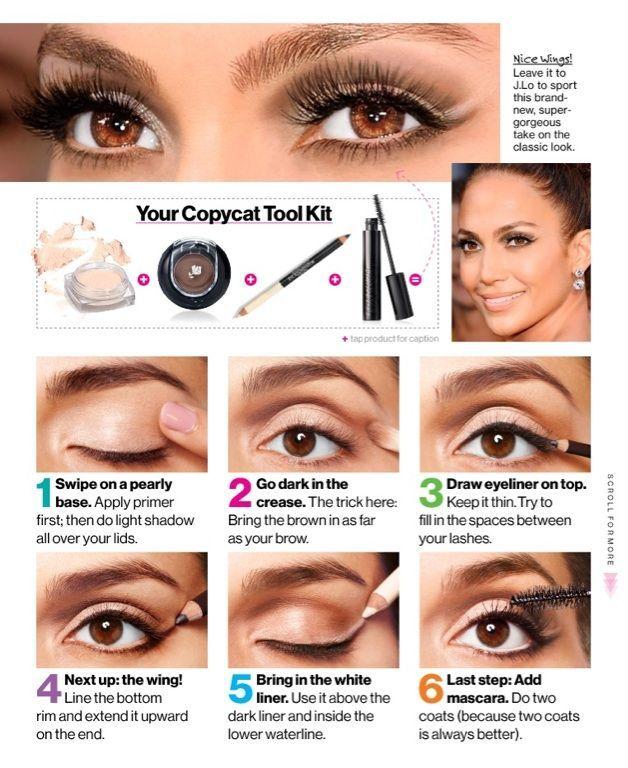158bc913856 Get J. Lo's Cat-Eye Makeup ~ Glamour magazine, December 2012. #EyeMakeupBold