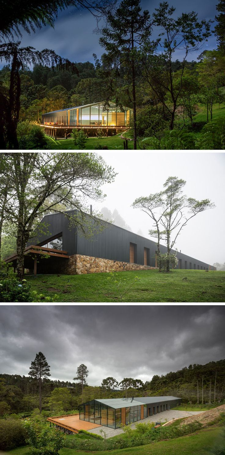 18 Modern Houses In The Forest | This house high in the Brazilian mountains is surrounded by lush rainforest to provide the healthiest air possible.