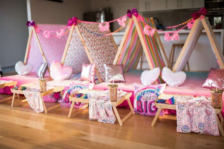 Jojo Siwa Birthday Party Ideas Sleepover Tents Sleepover Ideas For 10 Year Olds Slee Jojo Siwa Birthday Sleepover Birthday Parties Slumber Party Birthday