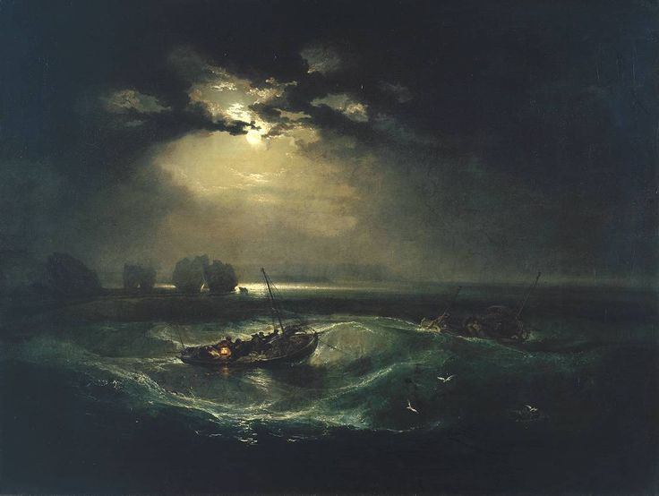 'Fishermen at Sea', Joseph Mallord William Turner. London.