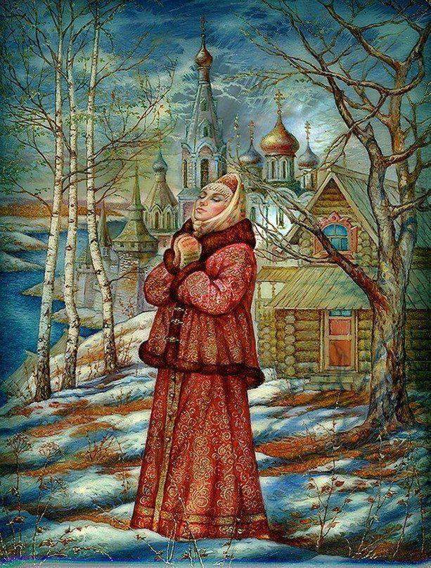Лаковая миниатюра Сергея Князева