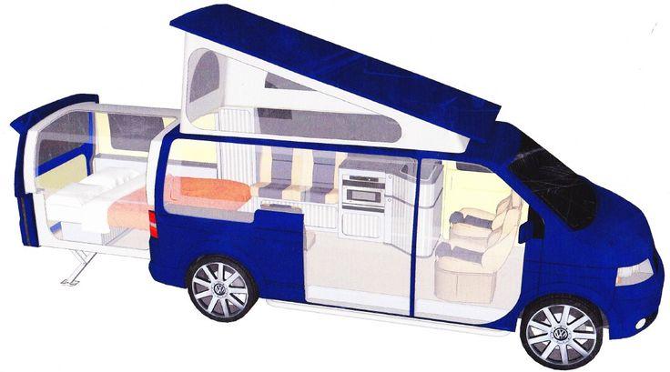 danbury t5 doubleback conversion floor plan campervans pinterest vw doubleback and t5. Black Bedroom Furniture Sets. Home Design Ideas