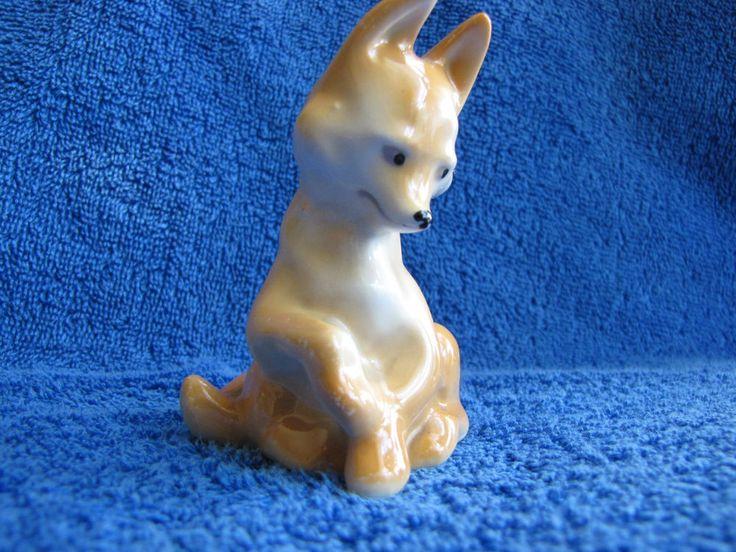 Antique Soviet Latvia Lettland porcelain figurine fox USSR Riga RPF RARE Decor #RPF