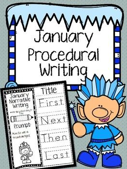 "January Procedural Writing foldables are a fun way to practice ""how to"" writing. January scenarios revolve around wintertime and include fun prompts such as ""how to make hot cocoa"" and ""how to win a snowball fight"" among others.In this packet, there are 7 writing prompts with traceable temporal word starters and 1 blank prompt to create your own options."