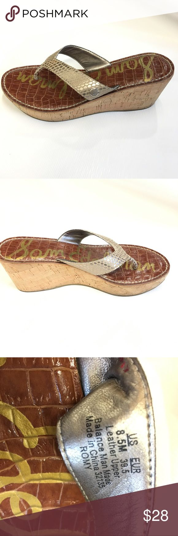 Sam Edelman Silver Wedges Sandals 8.5 M Shoes are in excellent used condition. Sam Edelman Shoes Wedges