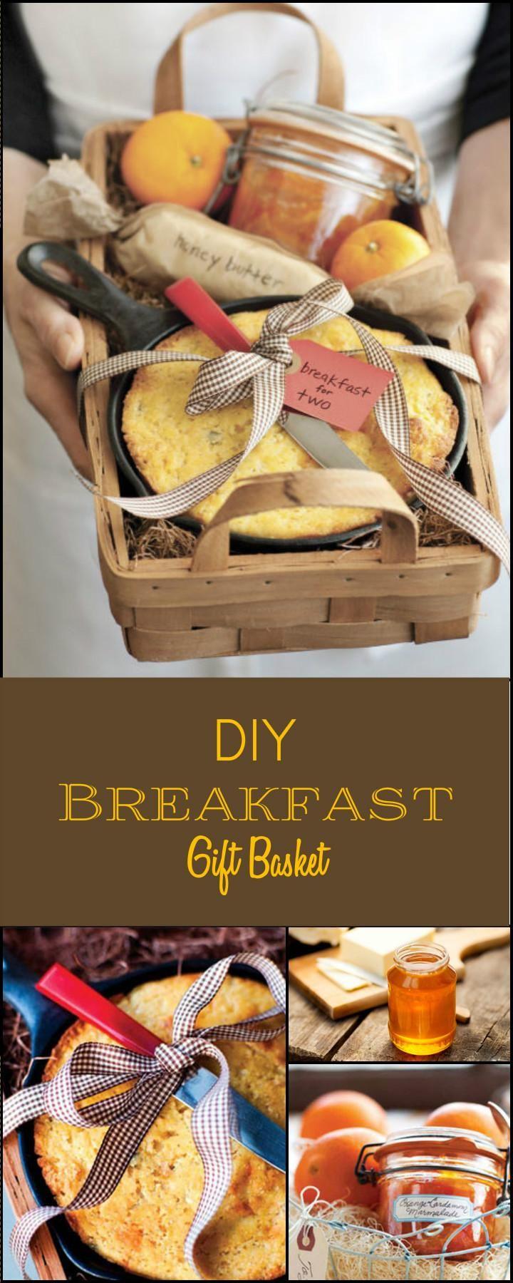 Cool Self-MadeBreakfastGiftBasket - 70+ Inexpensive DIY Gift Basket Ideas - DIY Gifts - Page 6 of 14 - DIY & Crafts