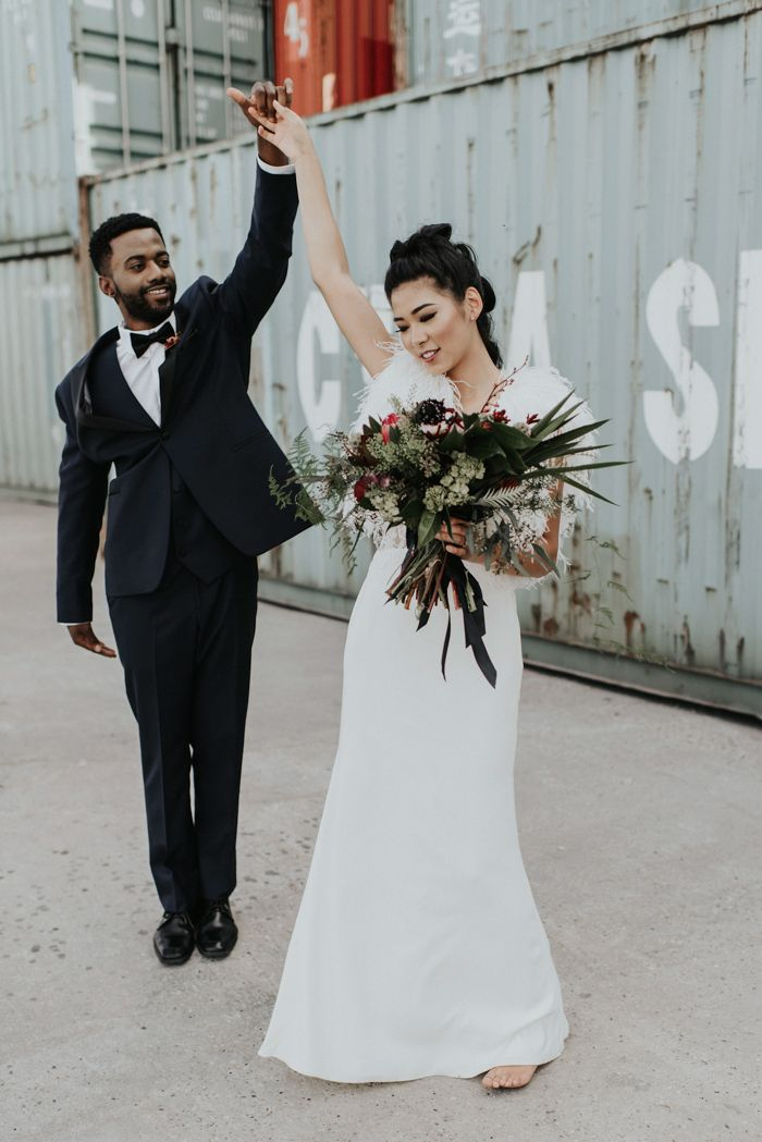 This storage facility wedding venue is unexpectedly gorgeous and modern    image by Karly Ford