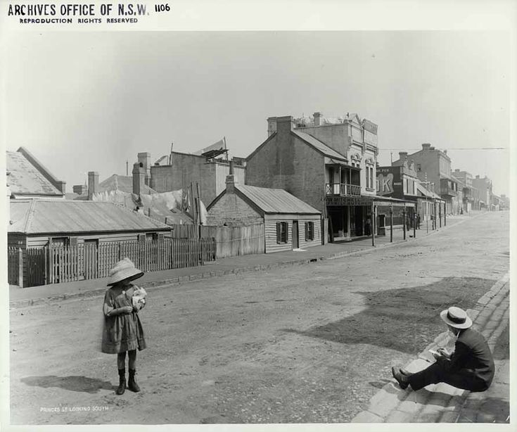 Princes St looking south. Rocks Resumption photographic survey. 31/10/1901. State Records NSW - Photo Investigator
