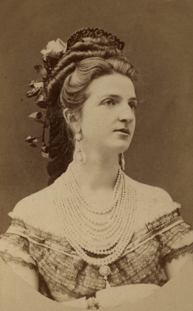 Queen Margherita of Italy. Amazing 1870's hair inspiration! What a coiffure.