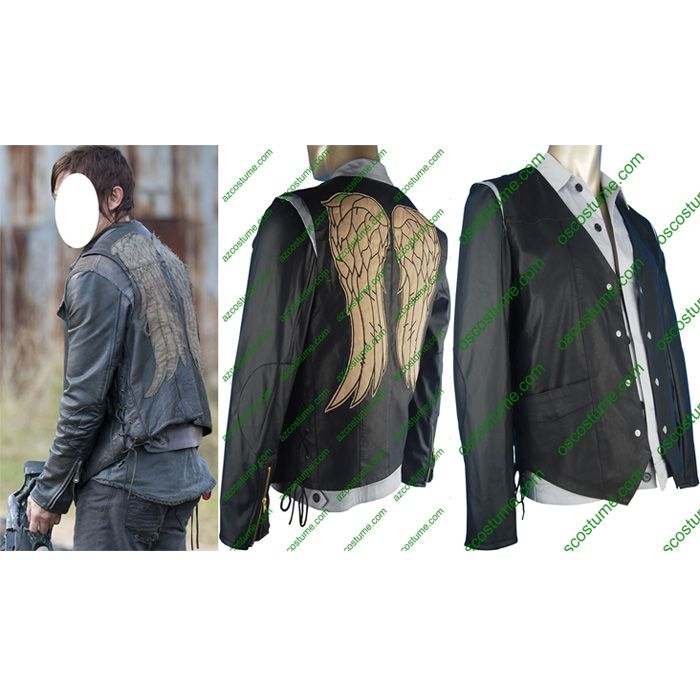 The Walking Dead costumes Daryl Dixon jacket vest leather cosplay costume christmas xmas gift top halloween costume hot TV costumes w/ Angel's wings