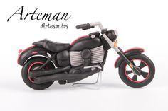 Moto, En Porcelana Fría, Adorno Torta - $ 250,00 en MercadoLibre