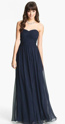 navy blue strapless gown perfect navy blue bridesmaids dresses