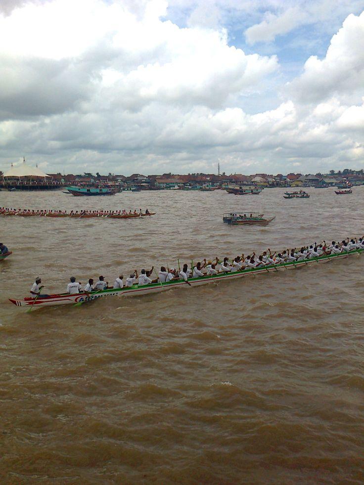 Bidar boatrace on musi river