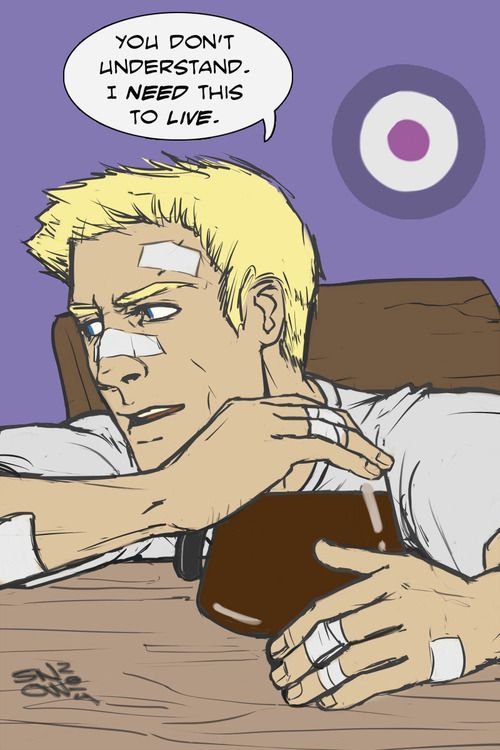 Clint Barton<<<<Gray must get her coffee addiction from her father. Comes by it naturally huh?