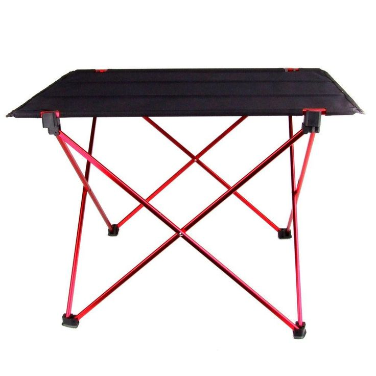 Portable Foldable Table Home Furniture Camping Picnic Aluminium Alloy (Size: Random Color)
