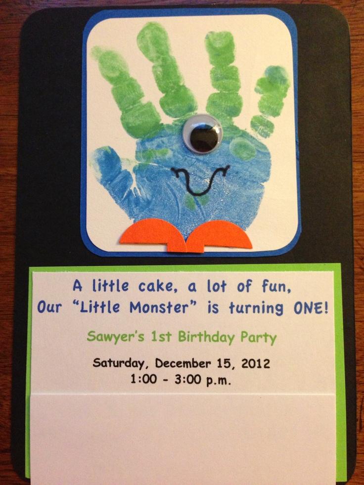 Monster Birthday Invitations  Idea: fun galore, turning four