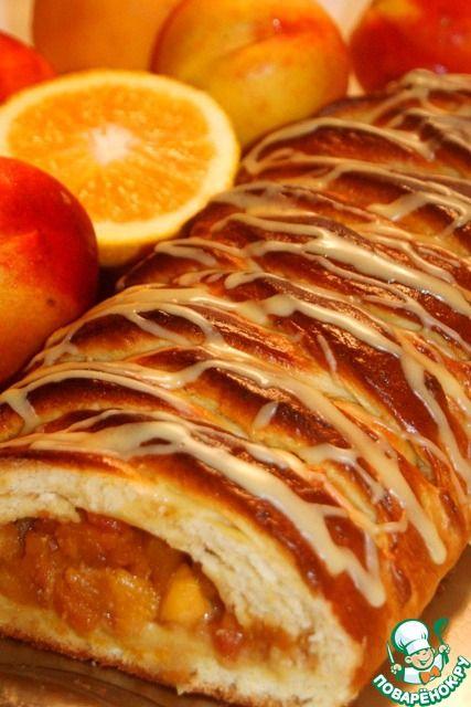 Ароматная плетенка с яблоками - кулинарный рецепт
