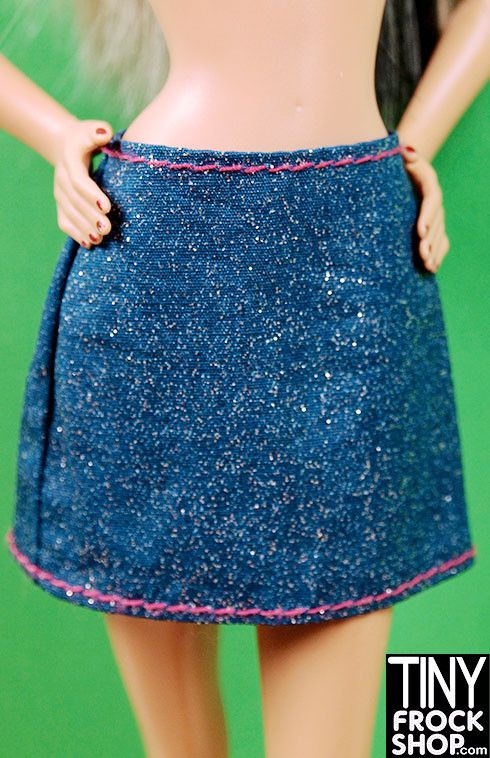 Barbie A Line Classic Glitter Denim Skirt | A line, Products and ...