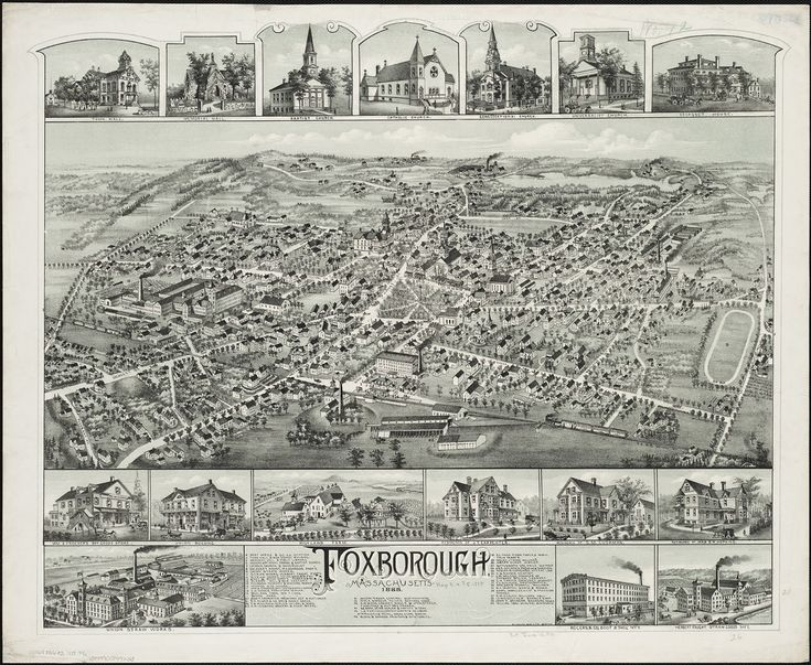 Foxborough, Massachusetts | by Norman B. Leventhal Map Center at the BPL