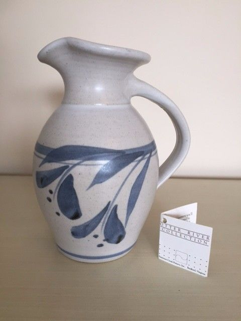 """Emerson Creek Pottery 7"""" Pitcher- Otter Creek Collection with Tag-NEVER USED"""