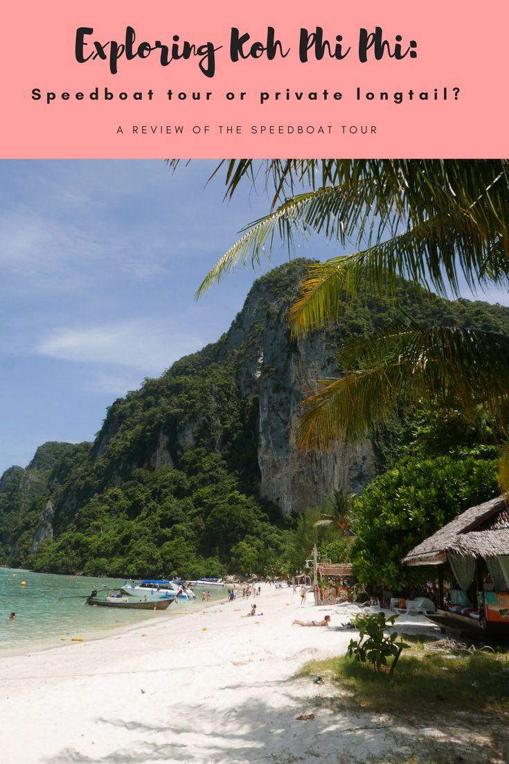 Phi Phi Island boat tour review. Bamboo Island, Phi Phi Island, Maya Bay, Pileh Lagoon. Should you take group boat tour or private longtail boat?