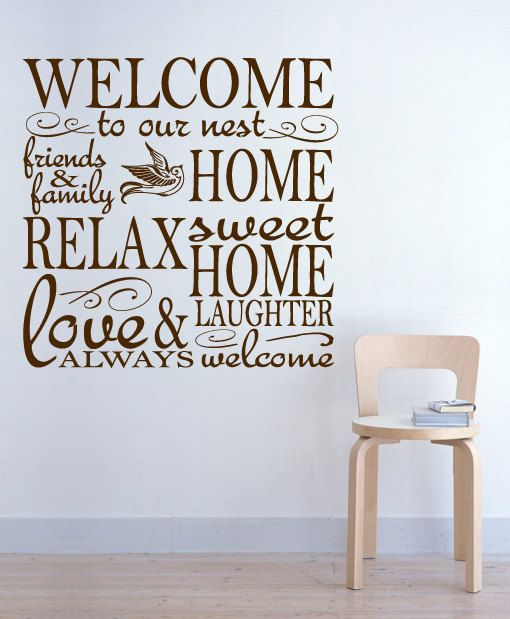 Vinyl Wall Houseware Welcome Home Decal Quote Sticker