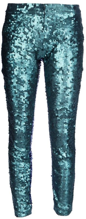 Jo No Fui sequined trousers on shopstyle.com green in the front , blue in the back