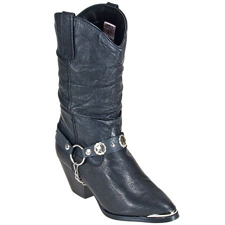 Dingo Boots Women's Pigskin Leather Black Work Boots DI522