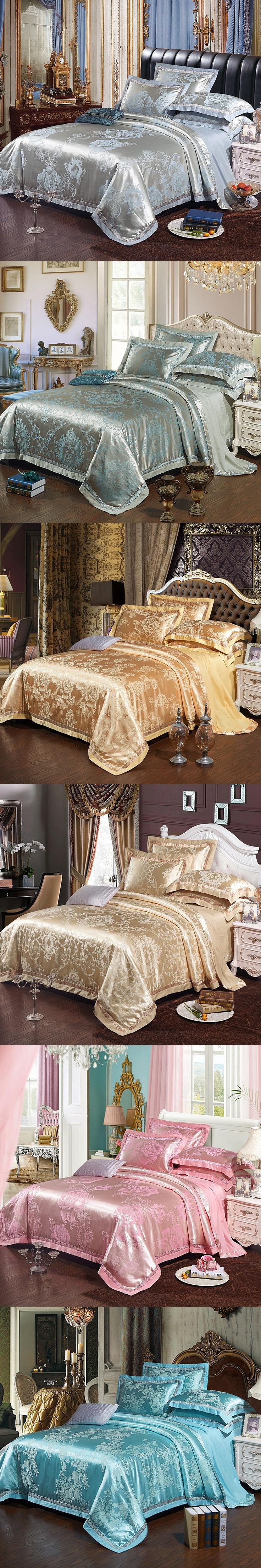 Embellish Double Bed Set Up by Luxury Cotton Bed Sheets