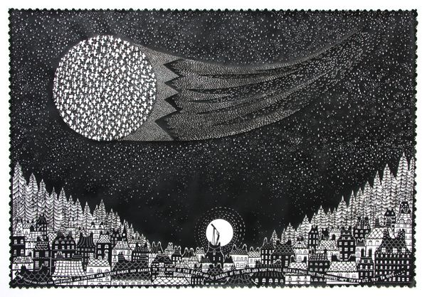 Rob Ryan paper-cut. Unbelievably intricate.