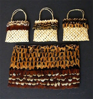 Kete - woven flax bags