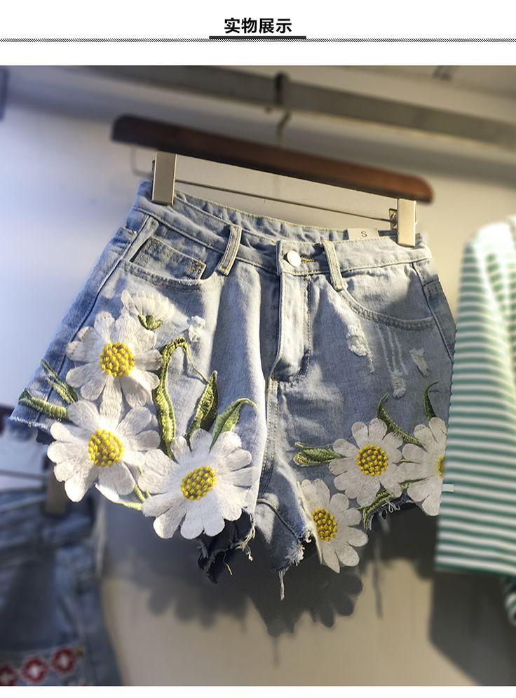 Высокая талия джинсовых шорт летних шорты жира сестра свободно широкие ноги жир MM200 фунты удобрений увеличить размер женщина прилива - Taobao