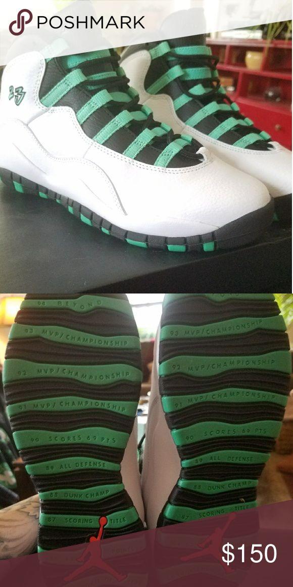 Jorands sz 6.5 youth Never worn, teal black & white Jordan Shoes Sneakers